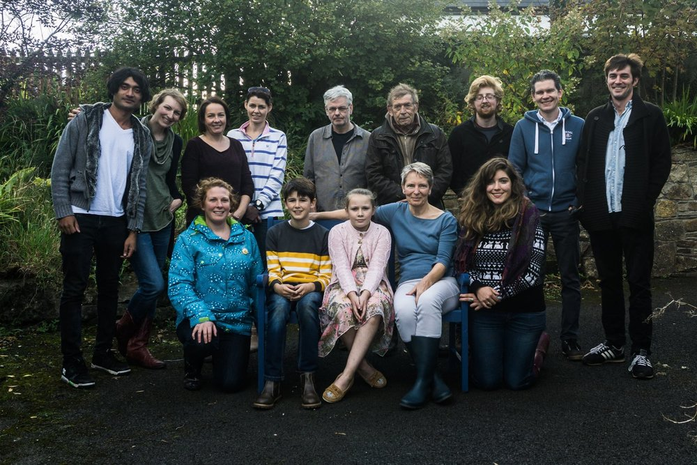 Cast and crew of The Long Wet Grass. Co. Mayo, October 2016.