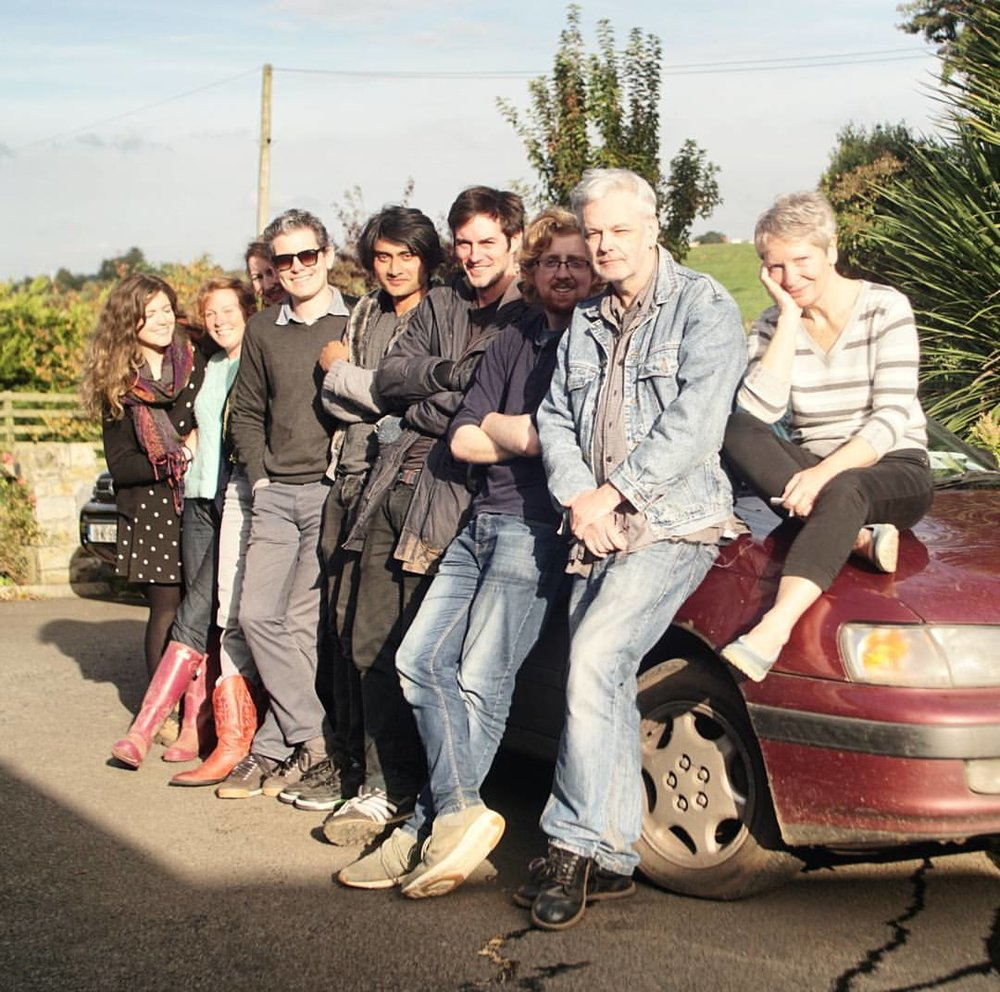 Cast and crew with great car we used.