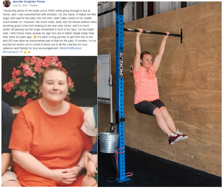Jennifer is a GREAT example of what hard work, making steady, smart, consistent changes to her nutrition and exercising can do! It can take time, but every step forward is a small victory that adds up to an amazing change!