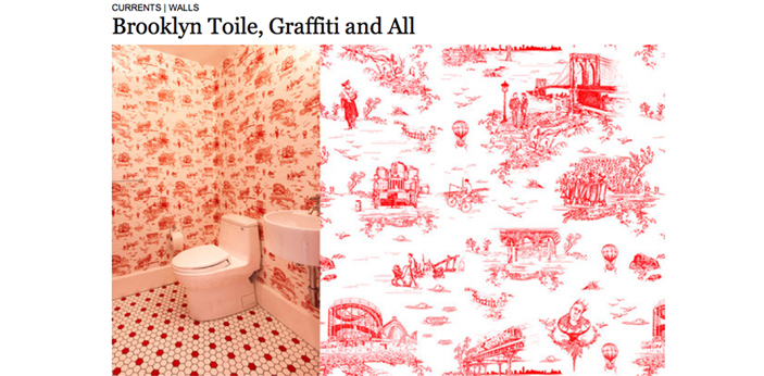 Brooklyn Toile featured in the NYT Courtesy Flavor Paper
