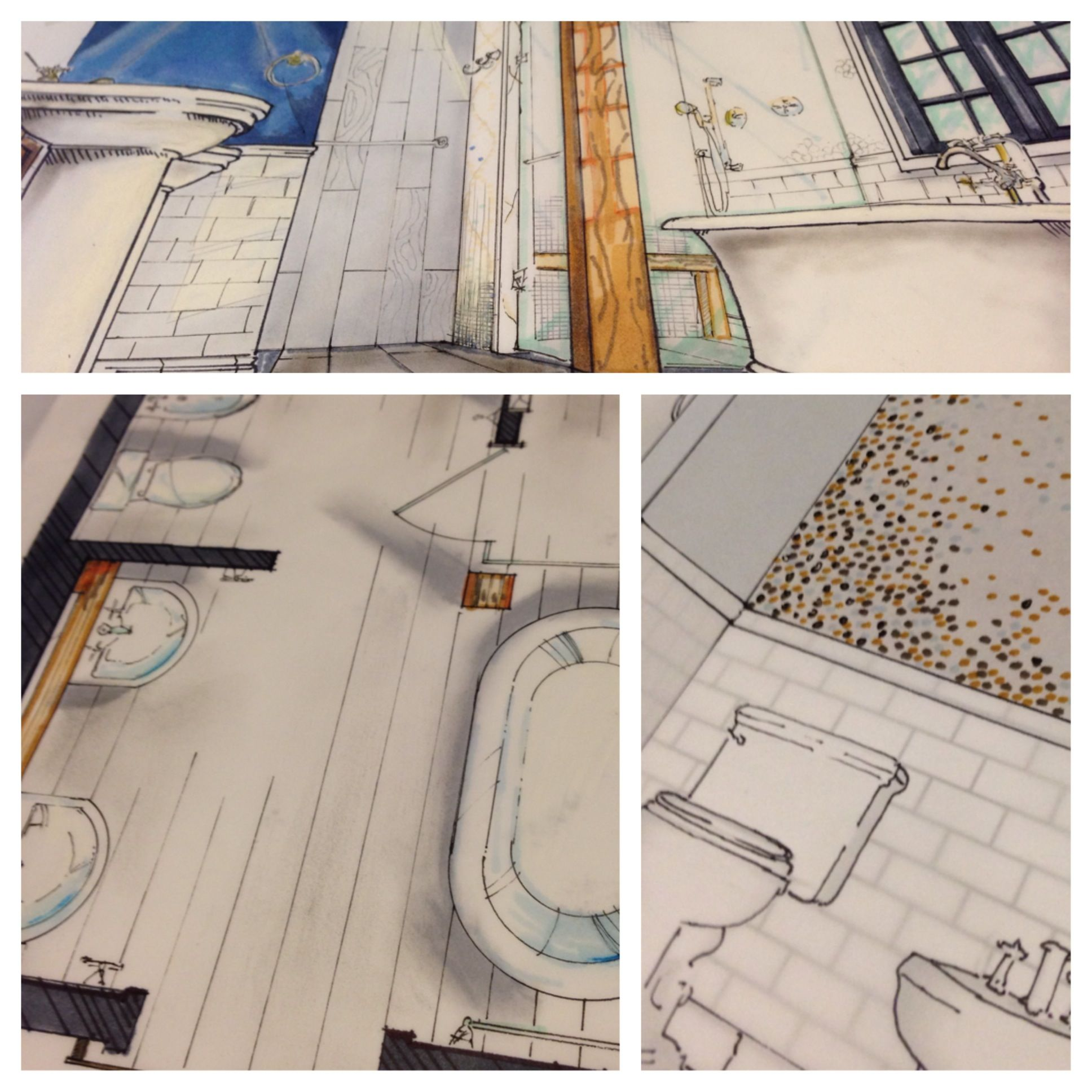 A couple detail shots of the renderings I worked on for the project. All done by your's truly - no outsourcing here!