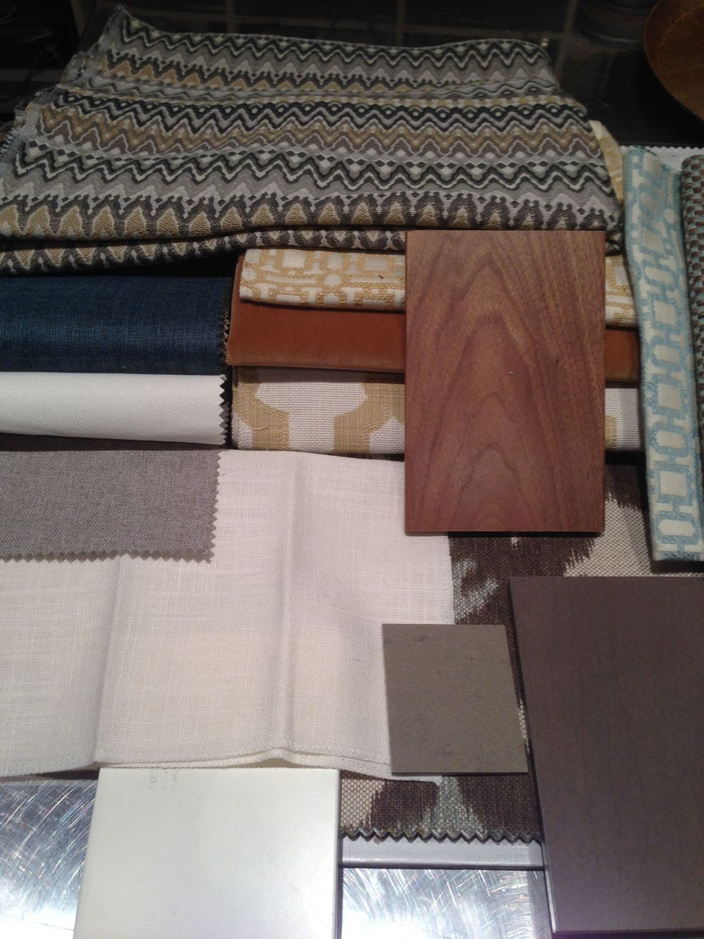 Corey Klassen Interior Design Fabric Scheme