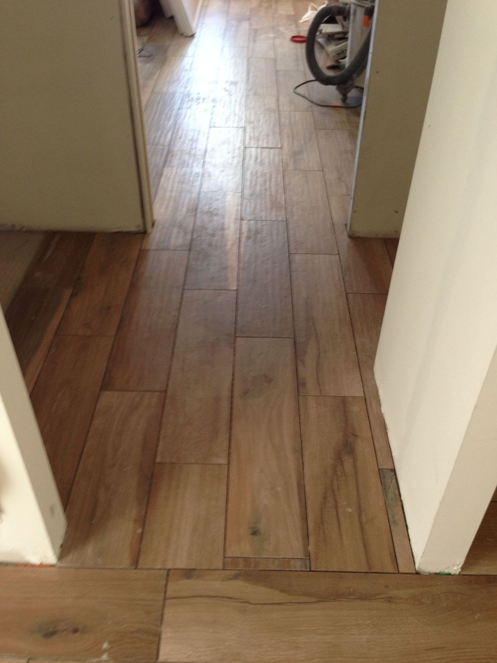 The floor looks like THIS! Not bad for a 2 month wait.