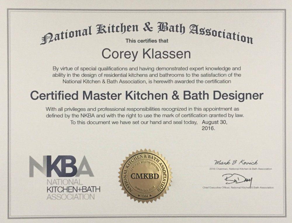 VANCOUVER, BC   Corey Klassen Interior Design Is Pleased To Announce That  Corey, The Firms Founder, Has Earned His Certified Master Kitchen U0026 Bath  Designer ...