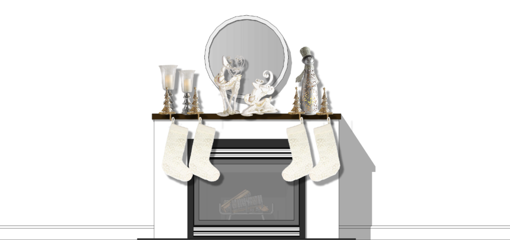 The Concept: Holiday Fireplace Mantle