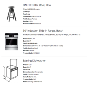 A Products List with direct-buy links to the product online.
