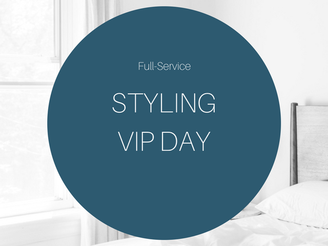 Book a one-on-one Styling VIP Day where we shop in-stock goods and furnishings to complete on a faster turn around.