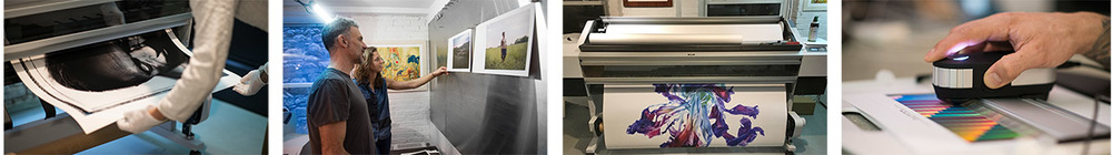 Digital printmaking in the studio at Brooklyn Editions