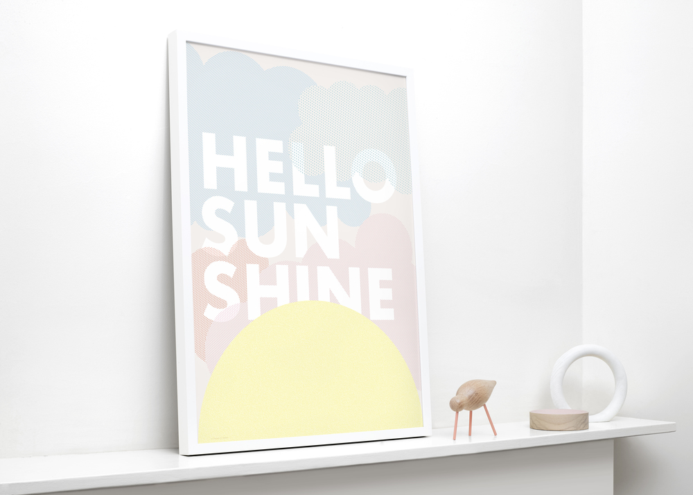 FRIDAY & TODAY • Hello Sunshine Poster. Styled by @friday_andtoday • Available at www.fridayandtoda...