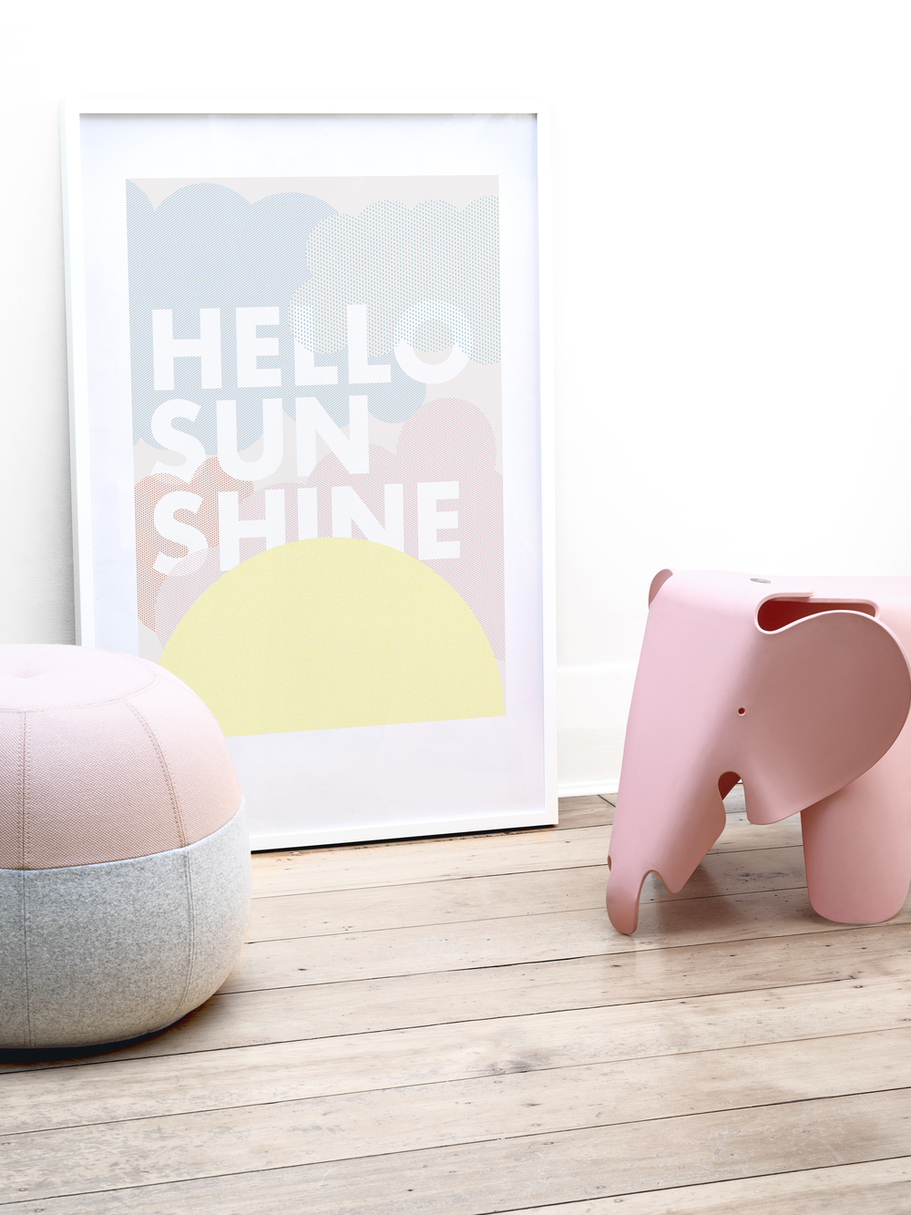 FRIDAY & TODAY • Hello Sunshine Poster. Styled by @friday_andtoday • Available at www.fridayandtoday.com