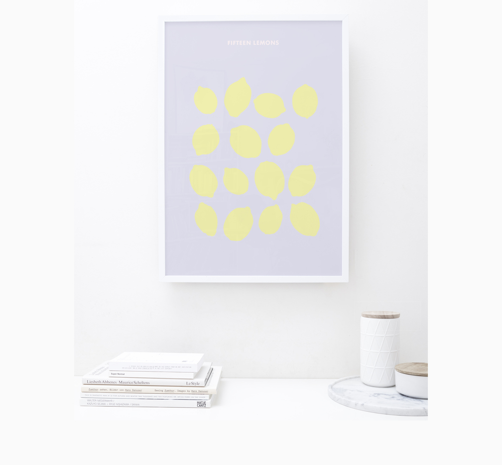 FRIDAY & TODAY • Fifteen Lemons Art Print • Styled by @friday_andtoday • Available at www.fridayandtoday.com