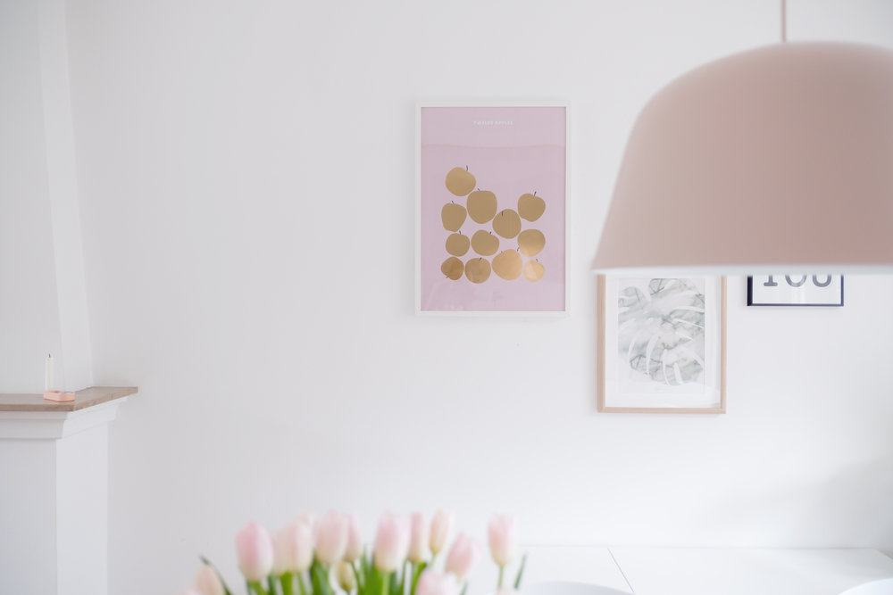 FRIDAY & TODAY • Twelve Apples Art print — Gold Foil • Styled by @_dailyapple_ • Available at www.fridayandtoday.com