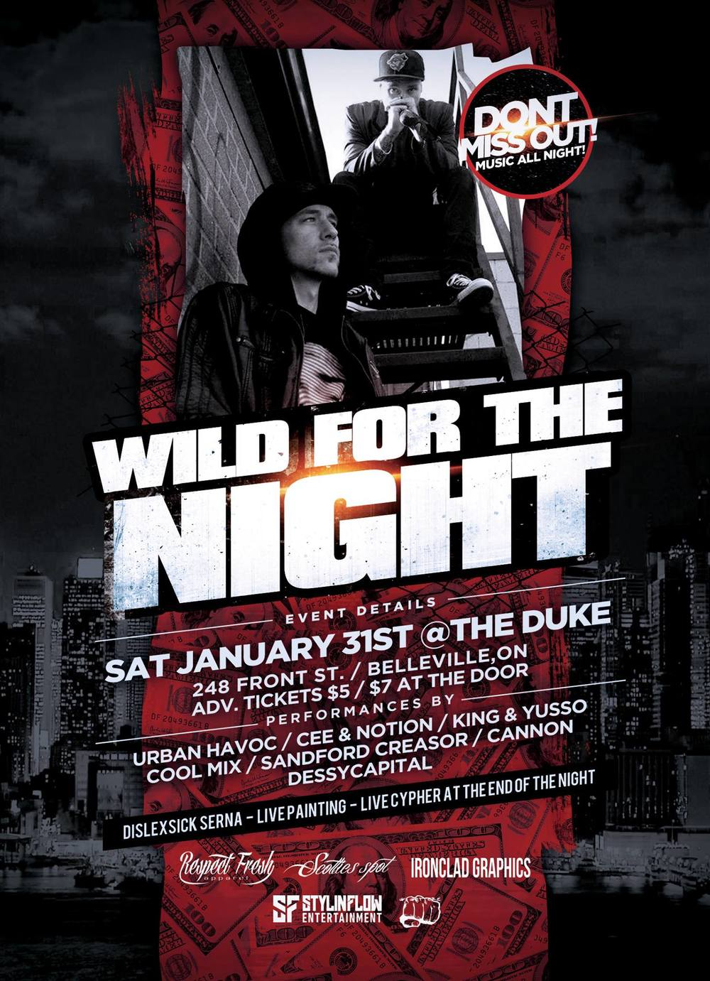Stylin Flow Entertainment Presents: Wild For The Night ft. Cee + Notion