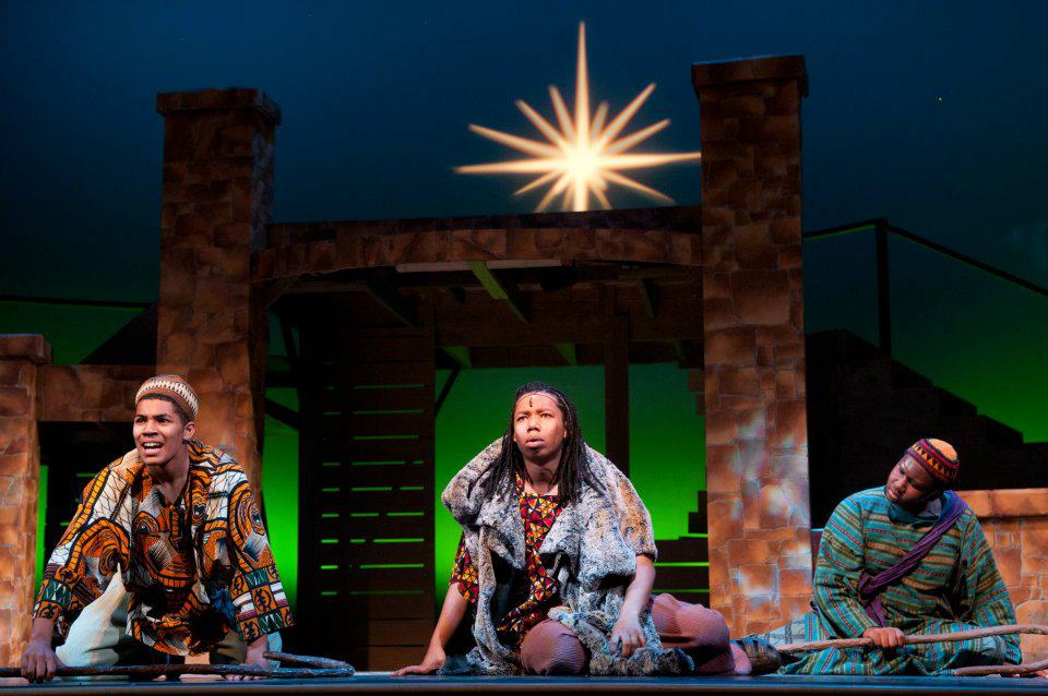 Christian Magby as Ezra in  Black Nativity.  Kenny Leon's True Colors Theater Company. 2011