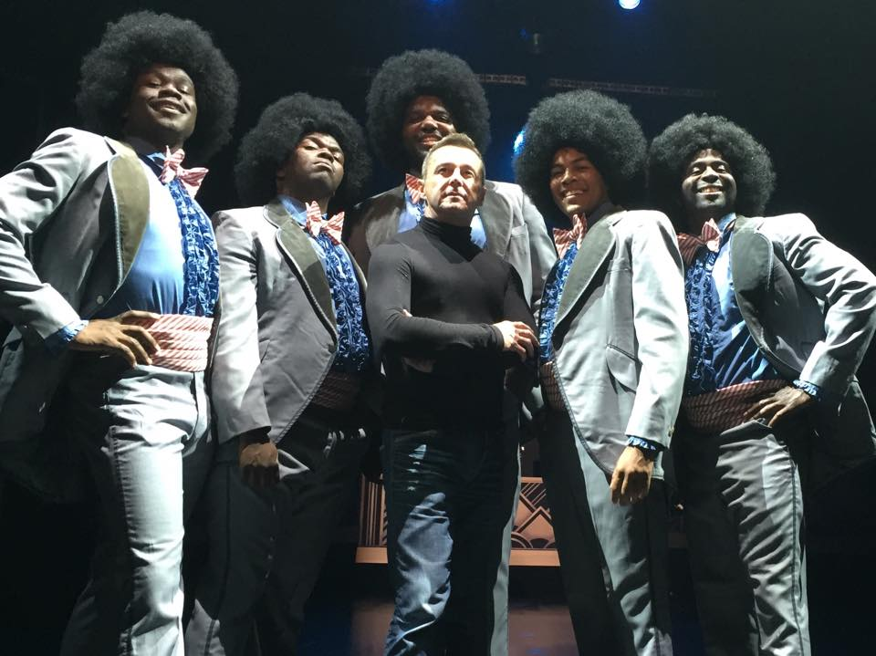 The Five Tuxedos in  Dreamgirls  with choreographer Stephen Mear. Milwaukee Repertory Theater. 2015.