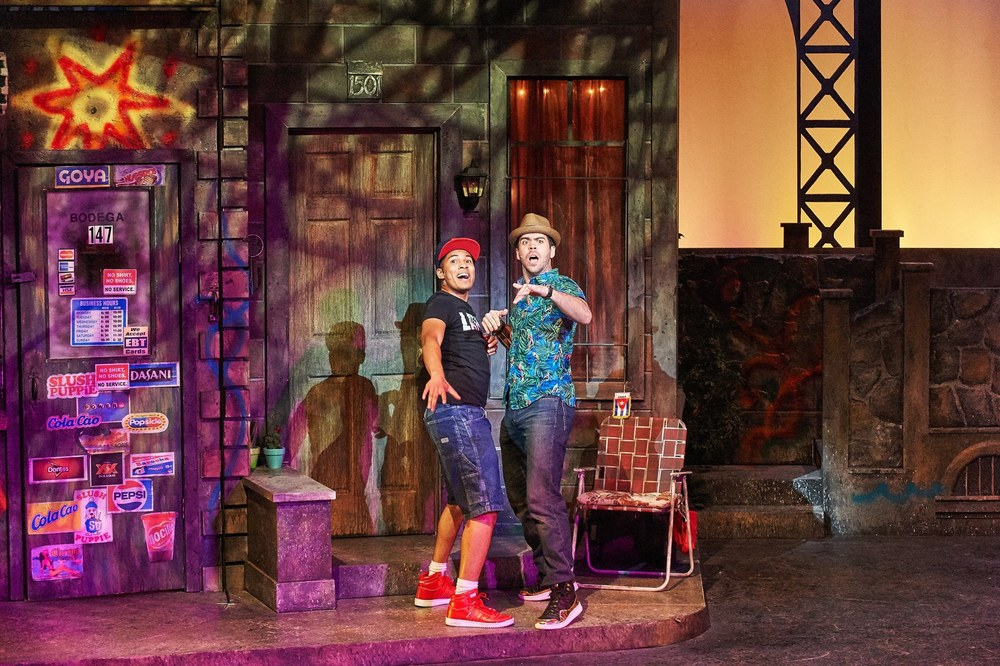 Christian (Sonny) with Diego Klock-Perez (Usnavi) in  In the Heights.  Aurora Theatre/Theatrical Outfit. Photo by Chris Bartelski. 2016.