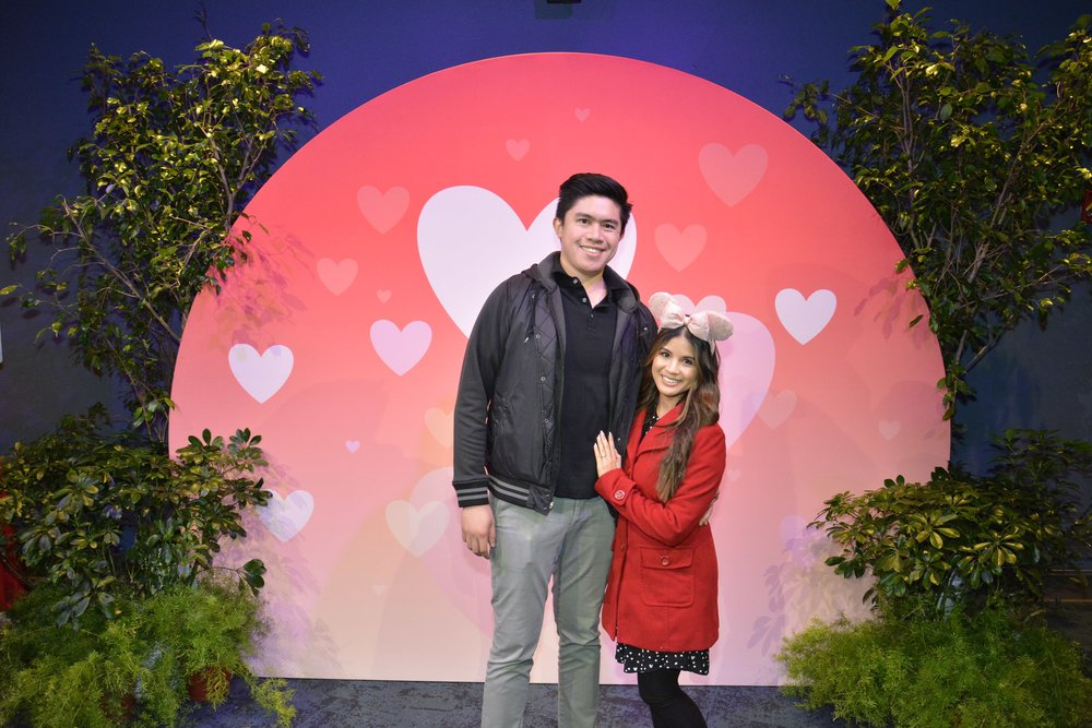 Enjoying a romantic evening at Disneyland