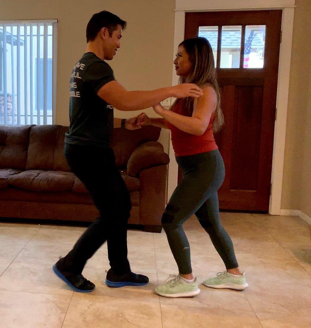 Partaking in a salsa dancing class