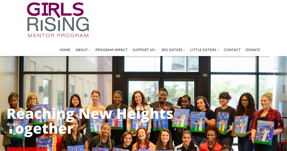 Home page of the Girls Rising website.