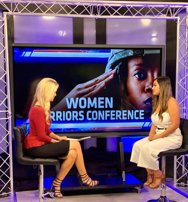 Thank you @kusinews for having me share about @clevertalks #WomenWarriors this morning. Shout out to all our amazing vendors and partners @by.rosaline, @coronadobrewing, @lazerladies, @combatflipflops and more! We're less than 3 weeks away. Get your ticket for #free just today! Use code: KUSI [Expires within 24 Hours] Get it while it 🔥