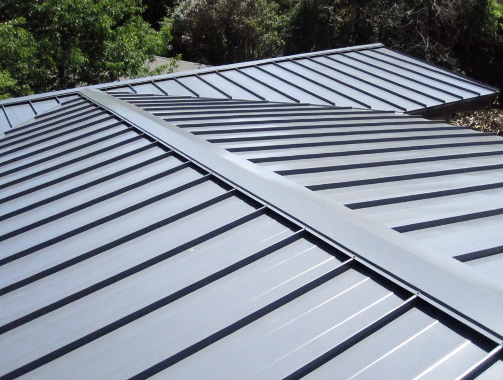 standing seam metal porch roof