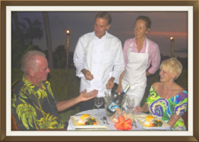 Enjoy a Private and Romantic dining experience with custom menu - catered specifically to your tastes,preferences, and any special needs you may have.