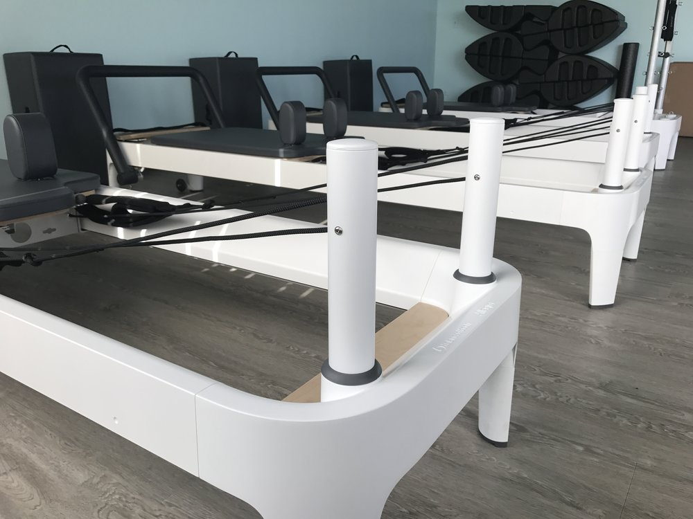 We work with Balanced Body Allegro 2 Pilates Reformers.