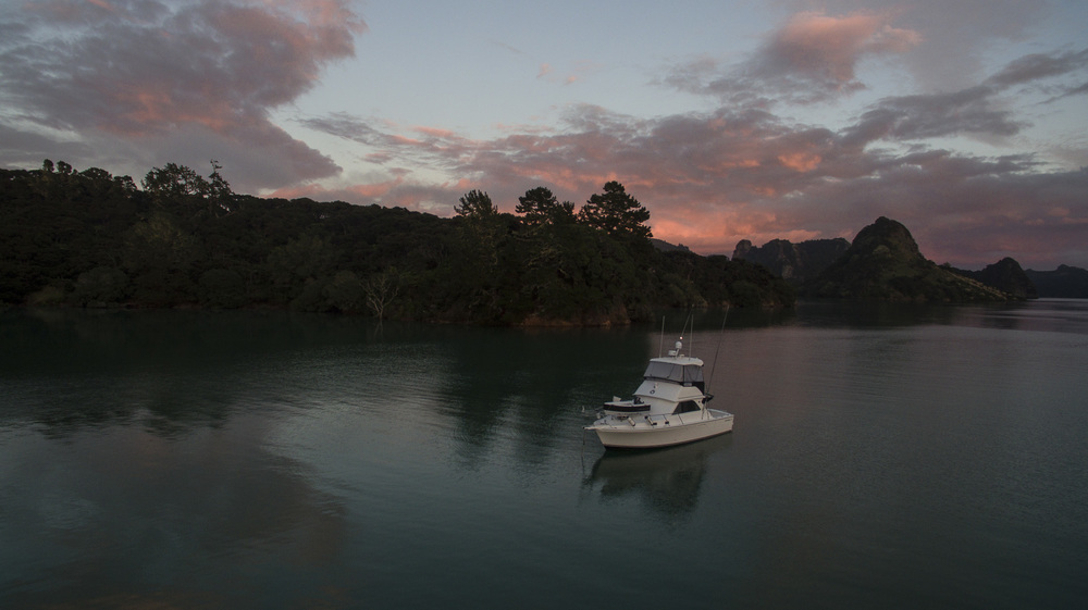 Morning sunrise in Whangaroa Harbor, Far North, New Zealand. photo by Beth Davidow