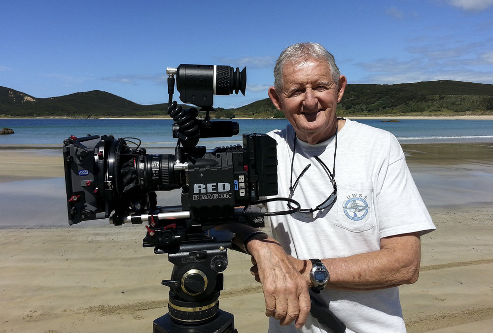 Filming with the RED DRAGON at Matai Bay, Far North, New Zealand