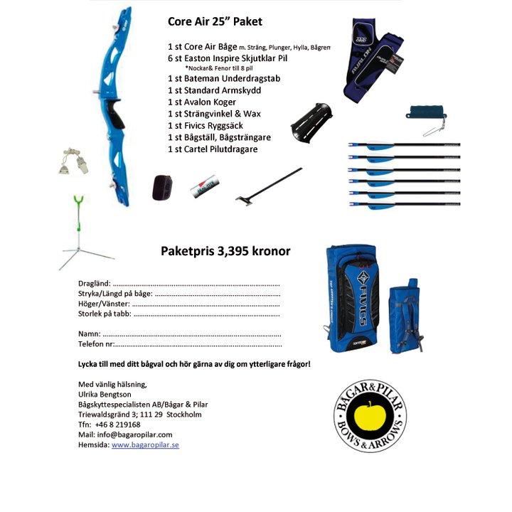Ett färdigt paket där du väljer höger eller vänster, styrka och färgkombinationer.