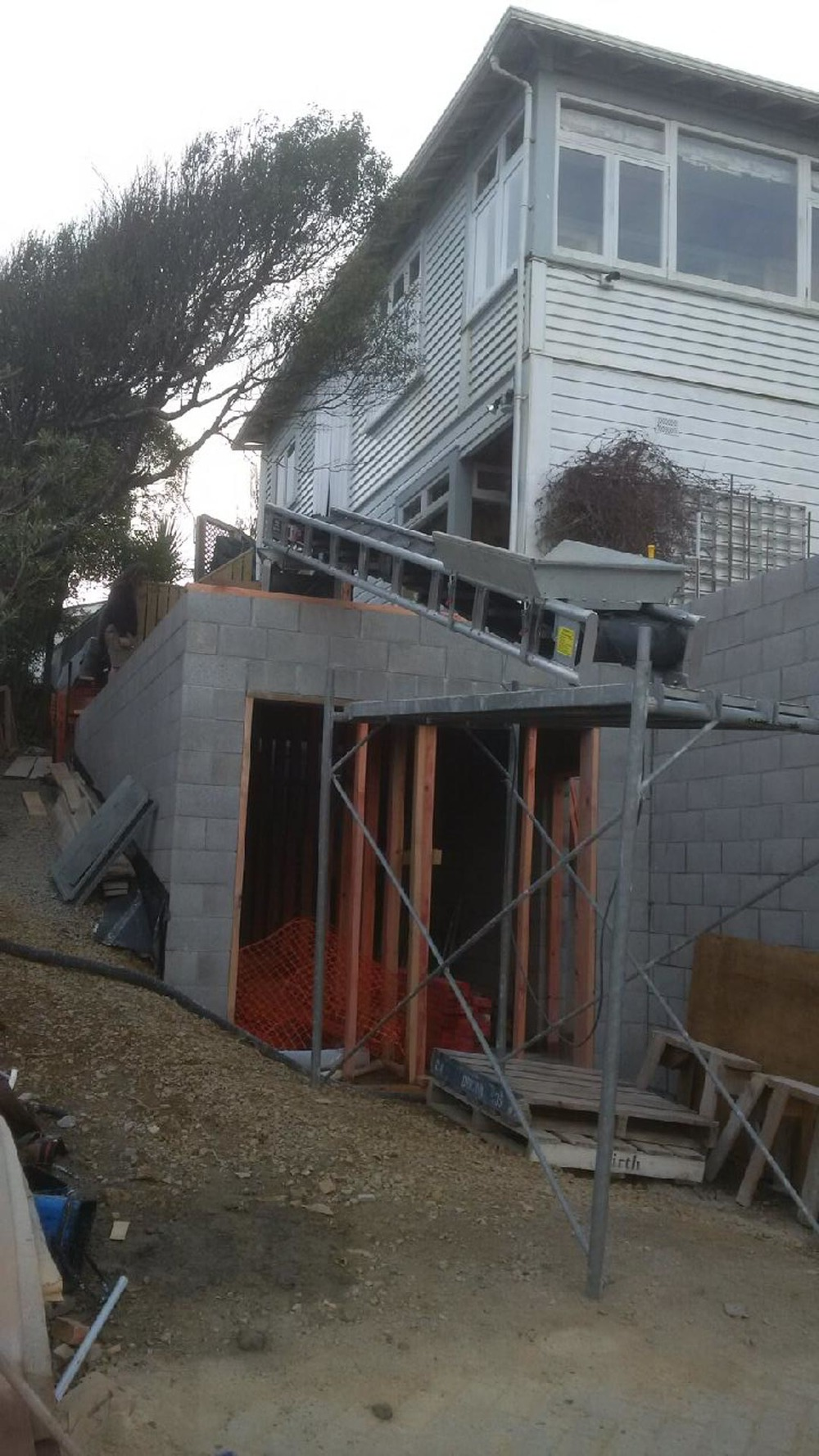 Backfilling under a house