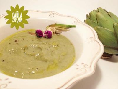Crema de alcachofa. Autora: Carla Zaplana