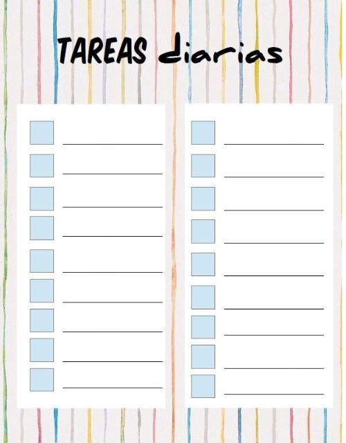 organizar tareas diarias