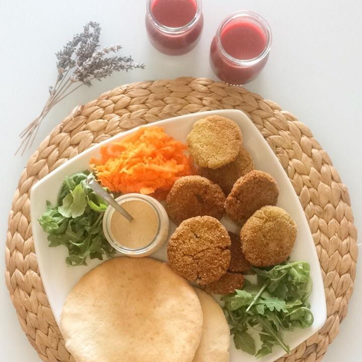 falafel sin gluten vegano