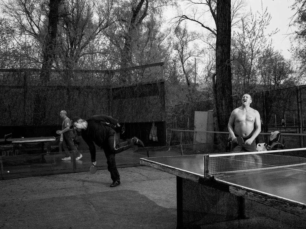 Table tennis tournament. Hydropark, Kyiv, Ukraine. April 13th. 2016.