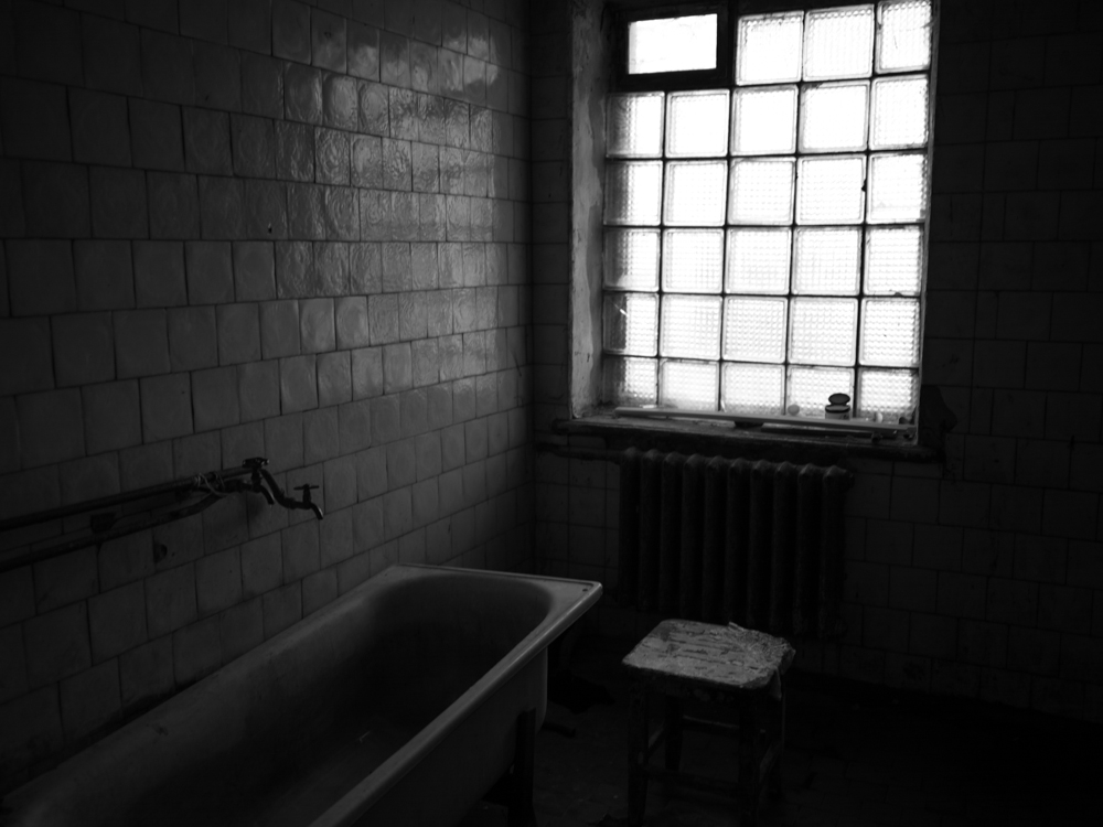Bathroom used by 42 people living at the dealer's house. Kyiv, Ukraine. April 17th, 2016