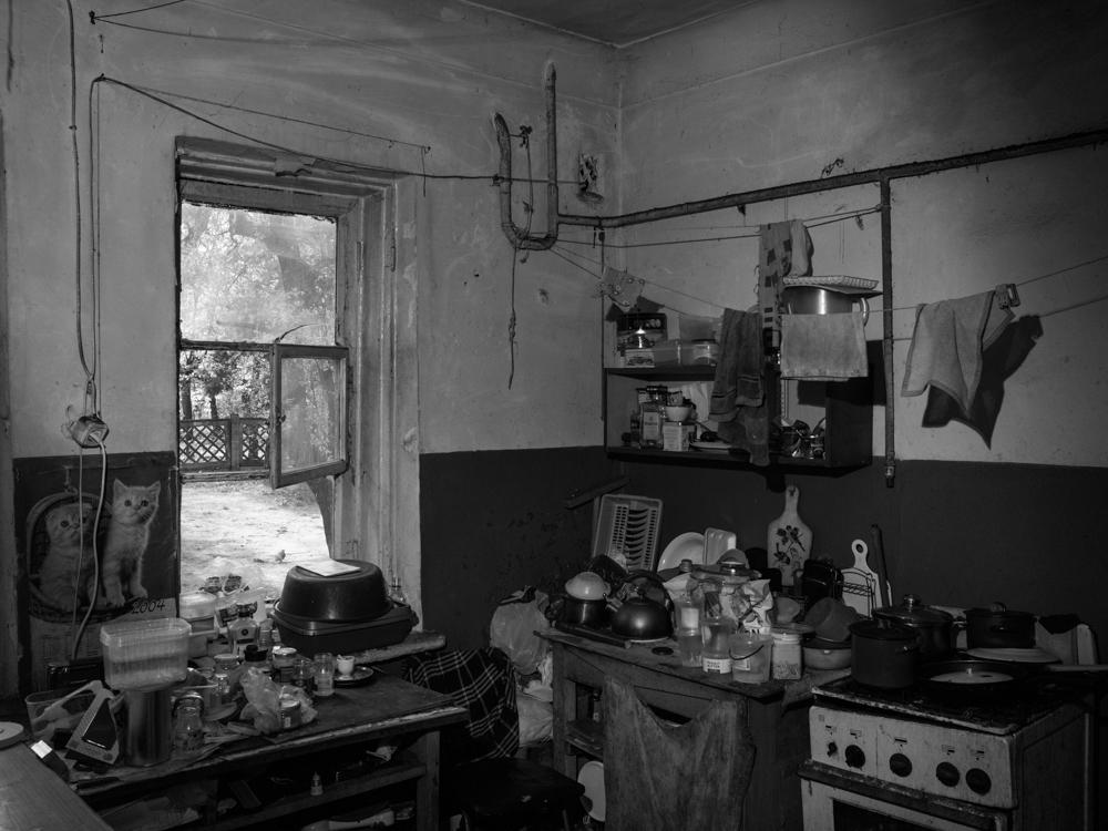 Kitchen at the dealer's house. Kyiv, Ukraine. April 17th, 2016.