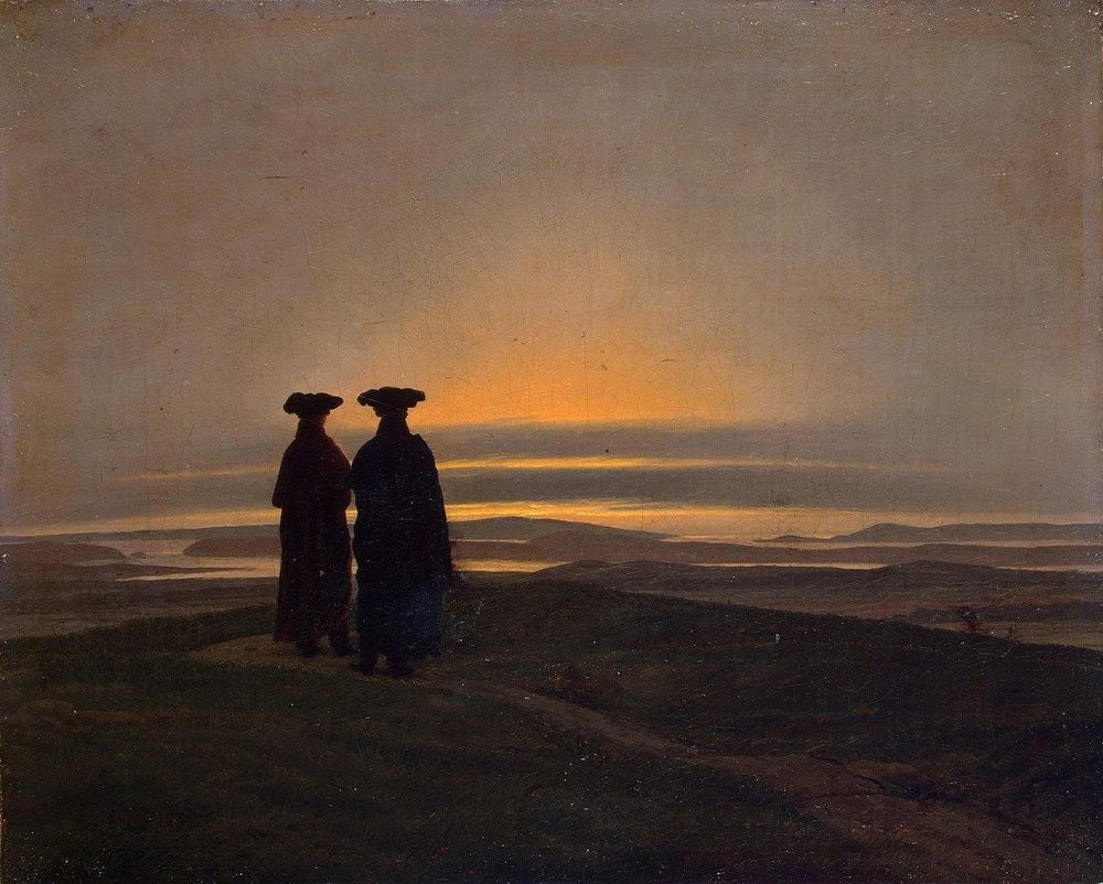 Caspar David Friedrich - Evening Landscape with Two Men