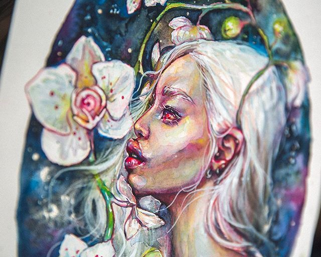 'Albina' 🔎💞 • #crystalcuddlesart by @tanyashatseva