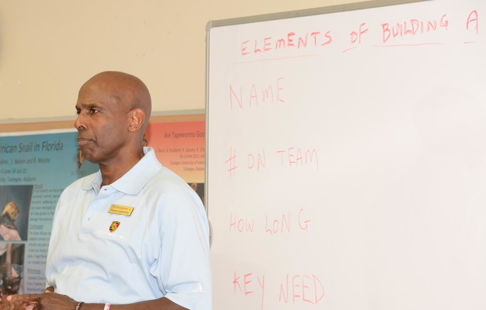 Carl teaching to collegiate leaders at Tuskegee University