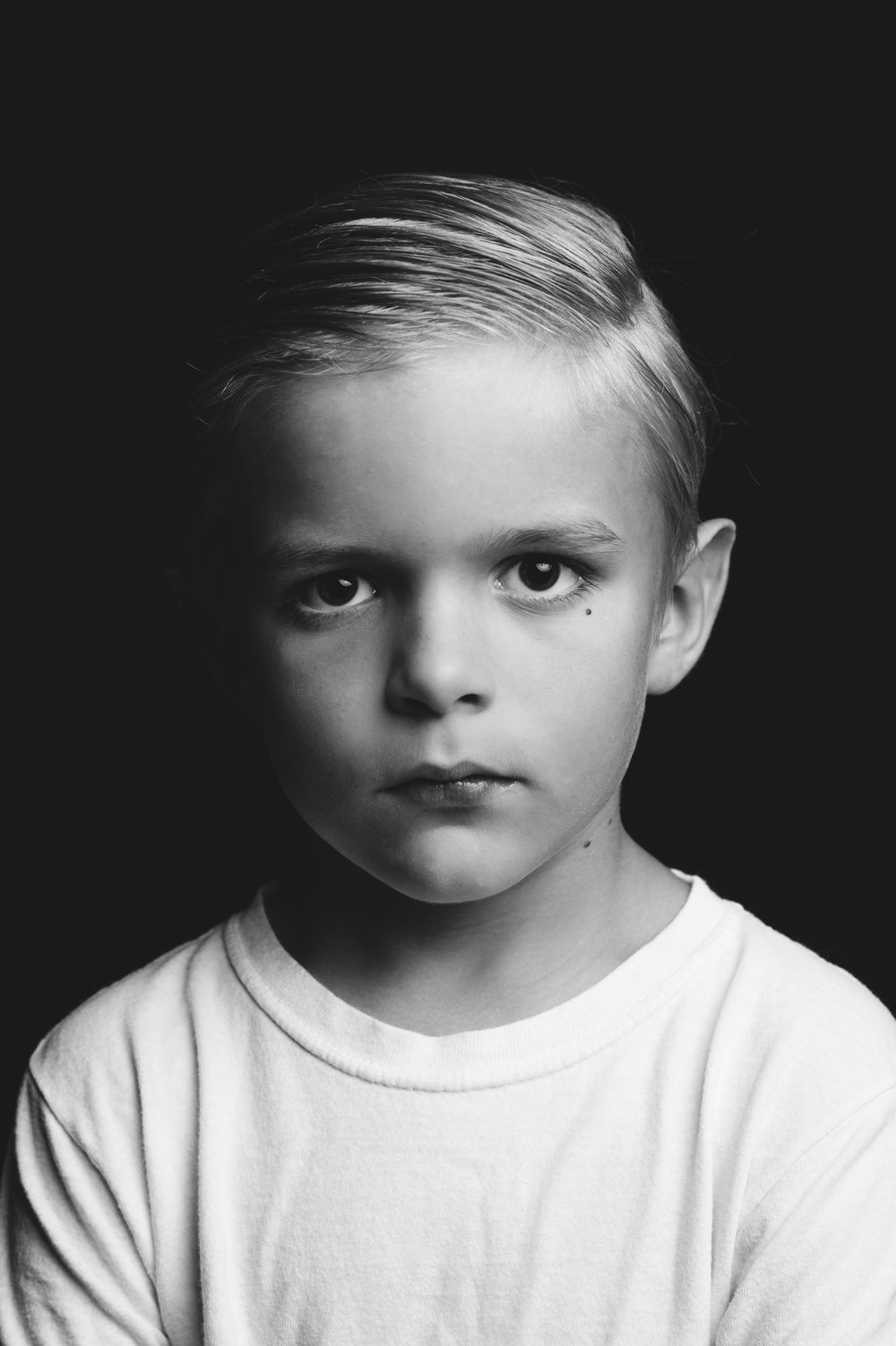 A simple yet powerful portrait of our son Liam.  Stripped of all possible distractions.  Simple.wins.always.
