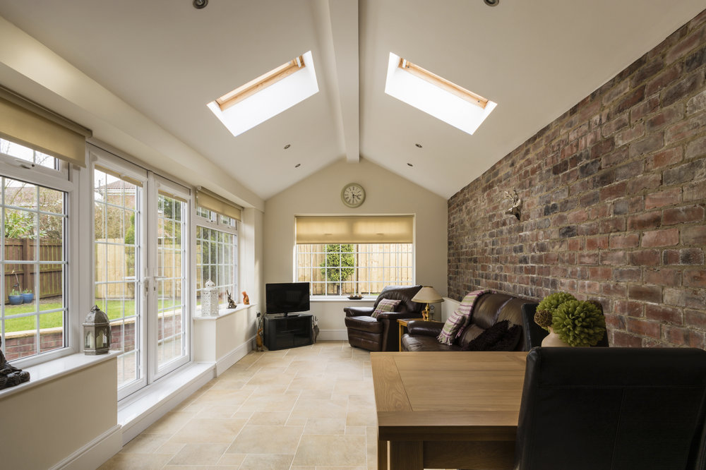 An extension with skylights