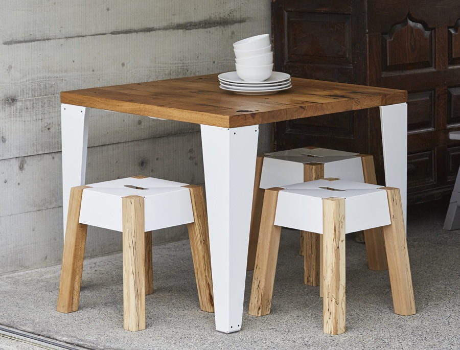Jam Furniture - Reclaimed French Oak Cafe Table £965. http://www.jamfurniture.co.uk