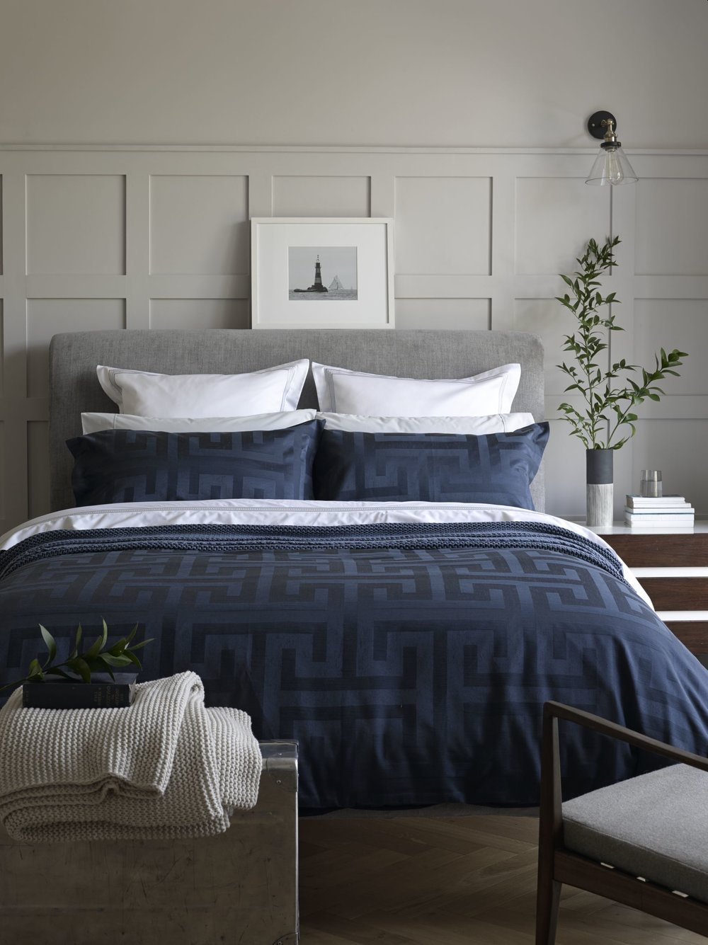 Product name:  Christy Nero Main Double Duvet Set.  Stockist information:   www.christy-home.com
