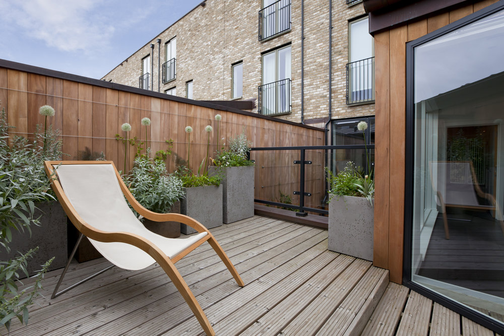 Decking outside home
