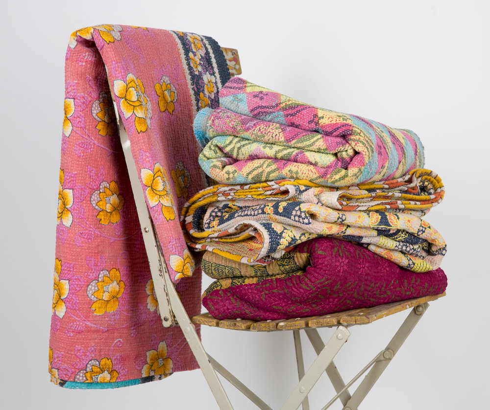 Credit Rebecca's Aix Home. Flowery Summer Throws. £95.  http://rebeccasaixhome.com/collections/vintage-quilts