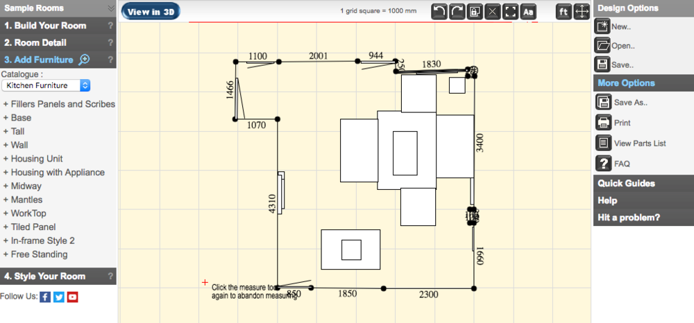 Opun home improvement - Opun Planner in 2D Mode