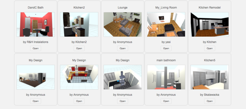 Gallery section of Opun Planner