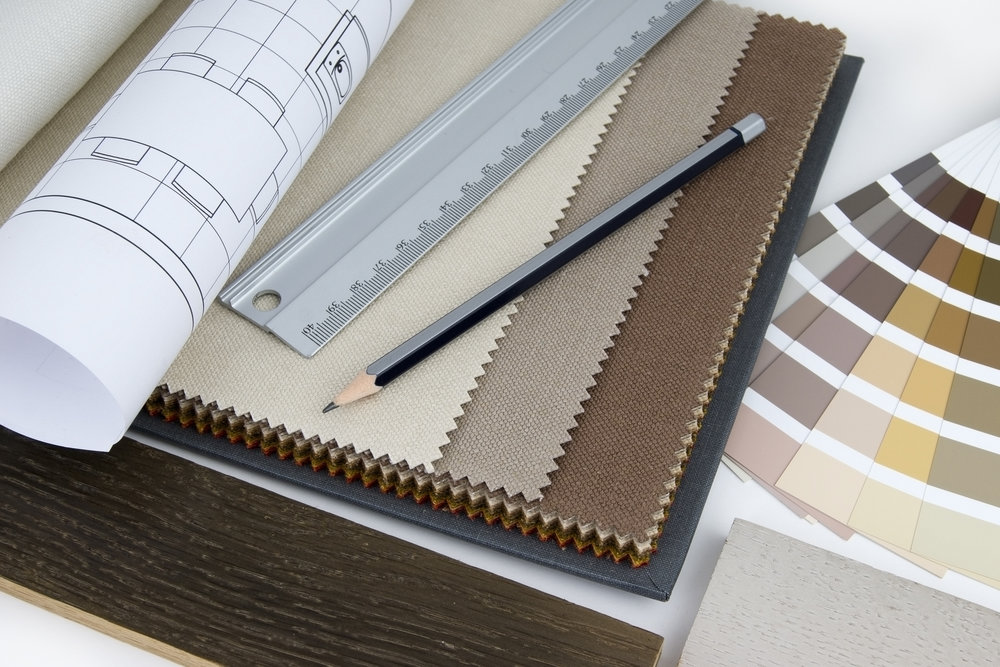 Interior design tools and swatches