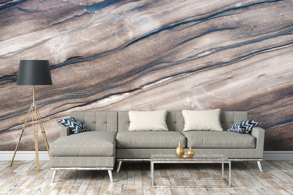 Brown Marble Wallpaper Murals from  Wallsauce.com